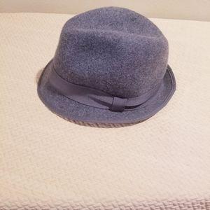 Jcrew wool gray classic fedora M/L